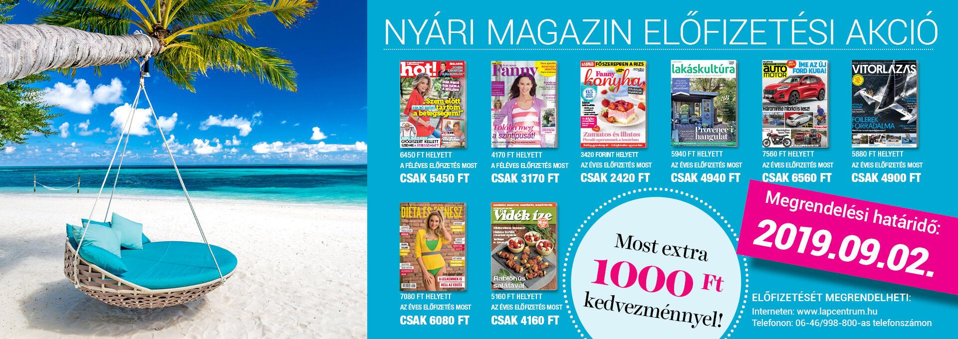 Nyári magazin akció