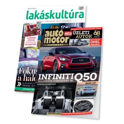 Lakáskultúra + Autó Motor EXTRA (3 lapszám)
