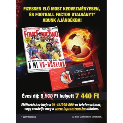 1 éves FourFourTwo magazin előfizetés + Football Factor utalvány