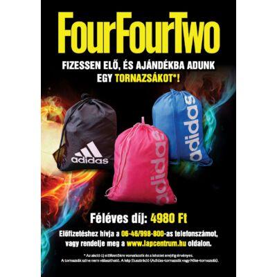 FourFourTwo 6 hónapos előfizetés + Tornazsák