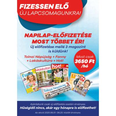 Tolnai Népújság + Fanny + Lakáskultúra + Hot! előfizetés